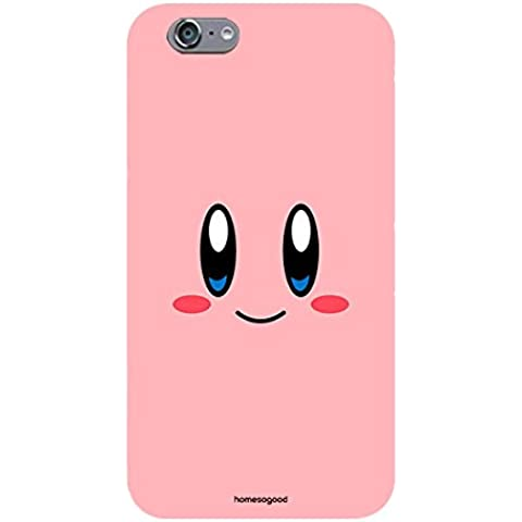 Homesogood Happy Kirby Face Multicolor Case For iPhone 6 (Back Cover)
