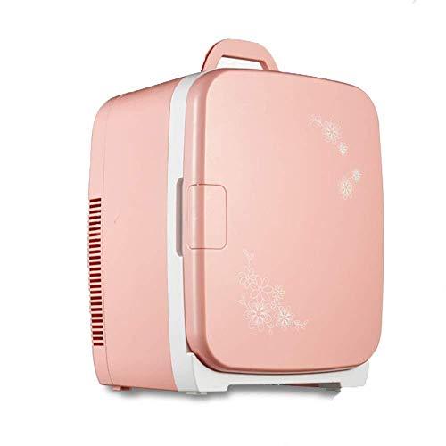 ZHENYUE Ini Frige Cooler Ein Warer, tragbare elektrische Copact Auto Kühlschrank Gefrierschrank Kühlbox oder Roo Büro-rosa 15L ZHENYUE (Color : Pink, Size : 15L)