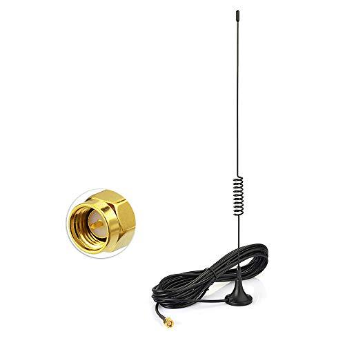 Bingfu Dual Band VHF UHF Ham Mobile Radio Antenne, Magnetfuß mit 2M RG174 Verlängerungskabel SMA Stecker Antenne für Kenwood BaoFeng HYT PUXING TYT WOUXUN Funkgerät Walkie Talkie, MEHRWEG (Vhf-antenne Radio)