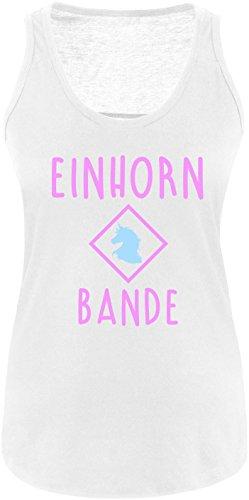 EZYshirt® Einhorn Bande Damen Tanktop Weiss/Rosa/Hellbl