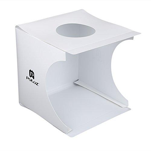 Acouto Portable faltbare Mini Studio Fotografie Leuchtkasten Zelt mit 2 farbigen Hintergründen (2-zimmer-zelt)