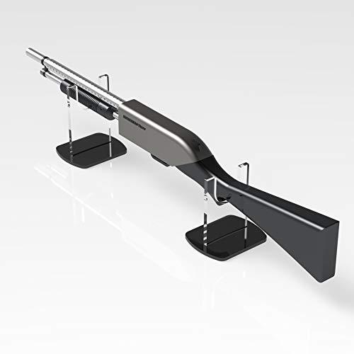 Gewehr-/Musketen-Ständer, Ausstellungsständer, Waffenständer, Clear With Black Base, H - 180mm -