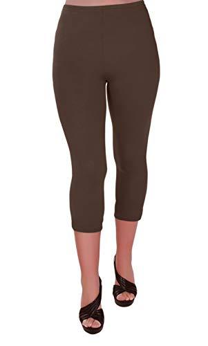 Eye Catch Plus - Ripley Damen Stretch Gym Yoga Aktiv Lässige Sport Erntegamaschen 3/4 Capri Hosen Größen 40/42
