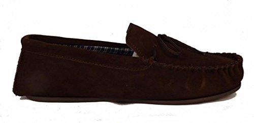 Dunlop Herren Moccasins aus Wildleder, Größe 39 - 47 Braun