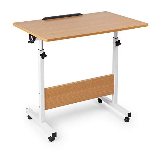Zhedan carrello da scrivania per laptop regolabile in altezza, comodino mobile, tavolino vassoio per notebook, con 4 ruote, per studiare il tavolo della colazione da lettura