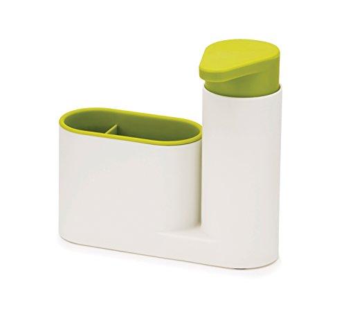Joseph Joseph 85081 Sinkbase Ordnungshelfer-Set Für Das Spülbecken, 2-Teilig, plastik, 17,8 x 6,01 x 16,5 cm, weiß/grün