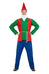 Smiffys 50963M - Disfraz de gnomo para hombre, talla M, color azul y verde