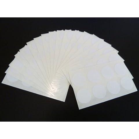 135 lote de etiquetas para, 19 mm de diámetro y redondos para mover muebles y, blanco y, juego de adhesivos de un color, adhesivos para la puntos de pared de-de cinta de doble cara