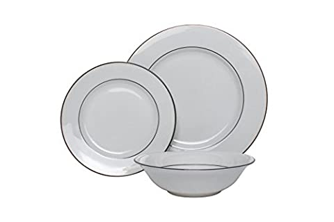 The Plate Co. Classic Black Dining Set, White (18 Piece)