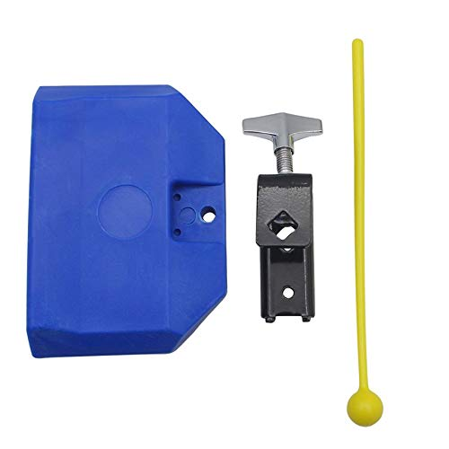 1PC Blue Percussion Drum Bell Block Cowbell Cow Bell Mountable Mallet Musical Instrument Accessory Parts