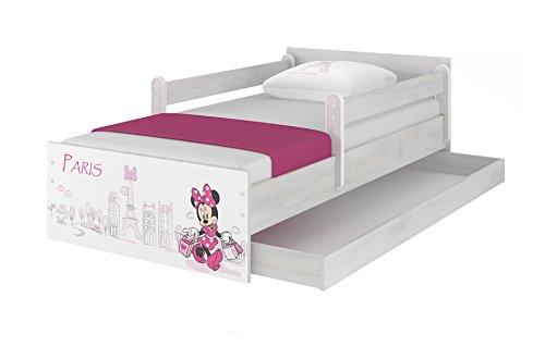 Original Disney's Kinderbett mit Rausfallschutz, Schublade und Matratze -