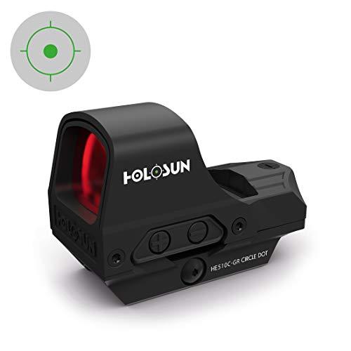 Picotronic Holosun Elite Offenes Reflexvisier HE510C-GR mit wechselbarem grünem Absehen - 78003453 -