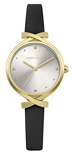 Karen Millen Reloj Analógico para Unisex Adultos de Cuarzo con Correa en Cuero KM173BG