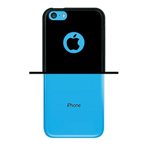iPhone 5C Hülle, WoowCase Handyhülle Silikon für [ iPhone 5C ] Fußball, der den Wand bricht Handytasche Handy Cover Case Schutzhülle Flexible TPU - Schwarz Housse Gel iPhone 5C Schwarze D0229