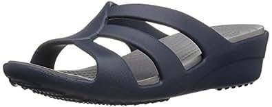 Crocs Sanrah Strappy Women Wedge in Blue