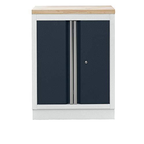Flügeltür-Unterschrank, HxBxT 910 x 680 x 460 mm, inklusive 1 Fachboden - Werkstattsystemmöbel Schranksysteme Werkstatt-Kompletteinrichtungen Werkstattmöbel Unterbauschränke Schrankwände