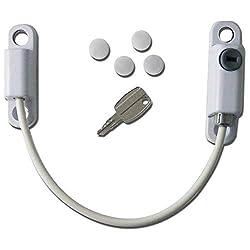 Öffnungsbegrenzer-Kabel aus Hart-PVC Kindersichere Verriegelung.Für Fenster und Türen geeignet - weiß