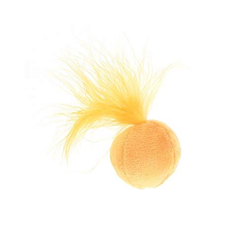 JER Lustiges Katzenspielzeug, Singende Glocken Plüsch Skorpion Federn interaktive Katze Spielzeug mit Katzenminze (Orange) (Halloween Orange Lebensmittelfarbe)
