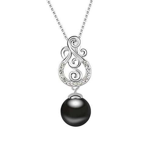 Daesar Schmuck Damenkette Vergoldet Perle Synthetische Kristall Halskette Zirkonia Halskette (Priester Kostüm Bilder)