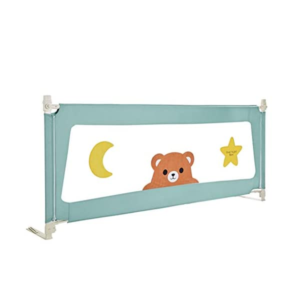 Playpens Crib Guardrail Baby Shatter-resistant Fence Large Bed 1.5-2.0 Meters Children Against Bedside Baffle (Size : 1.5m) Playpens ★ high quality non-toxic materials,Size:150cm/200cm ★ Vertical lift structure: no space is occupied, and it is more convenient to enter and exit. Push the fence down at the push of a button ★ height adjustment: can be adjusted according to the thickness of the mattress, so that the bed is close to the mattress. Avoid gaps between the mattress and the guardrail to prevent your child from falling 17