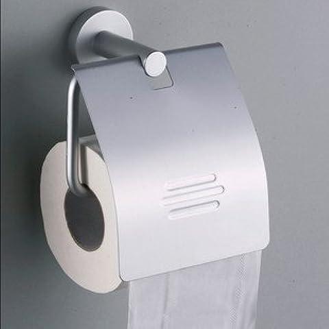 FEI&S Asciugatutto rack con il coperchio di metallo-rotonda bagno argento accessori per bagno, come mostrato in figura