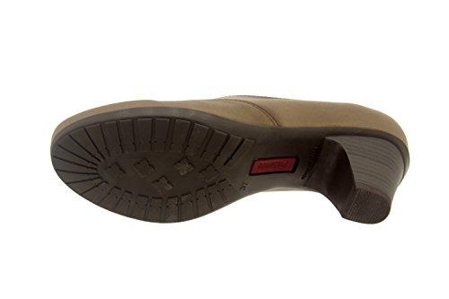 Chaussure femme confort en cuir Piesanto 3432 casual comfortables amples Nuez