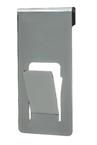 Cintre _ PDM _ pour verre de pare-baignoire _ acier inoxydable.