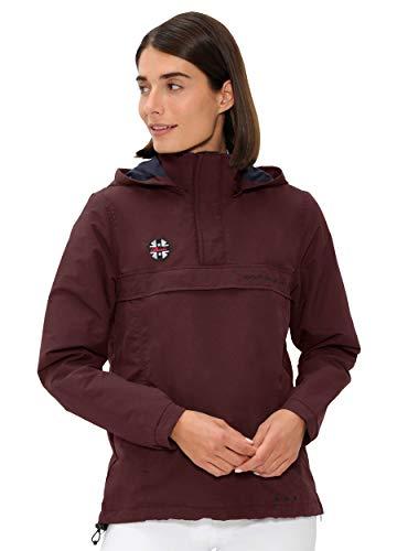 SPOOKS Damen Jacke, leichte Damenjacke mit Kapuze, Herbstjacke - Joy Windbreaker Bordeaux XL