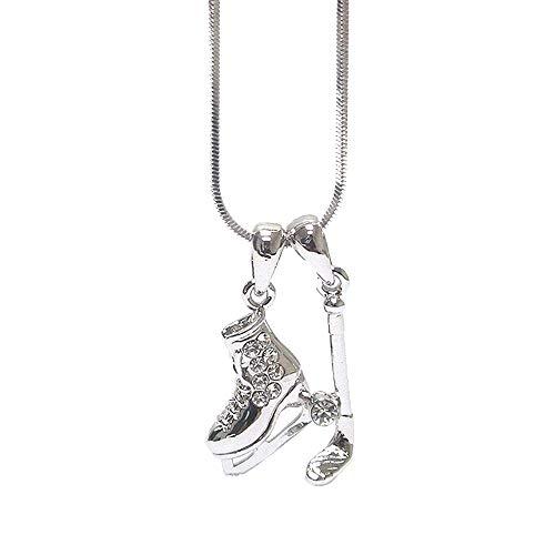Halskette mit Eishockey-Anhänger-Kristall inkl. Geschenkbox von Lola Bella Gifts