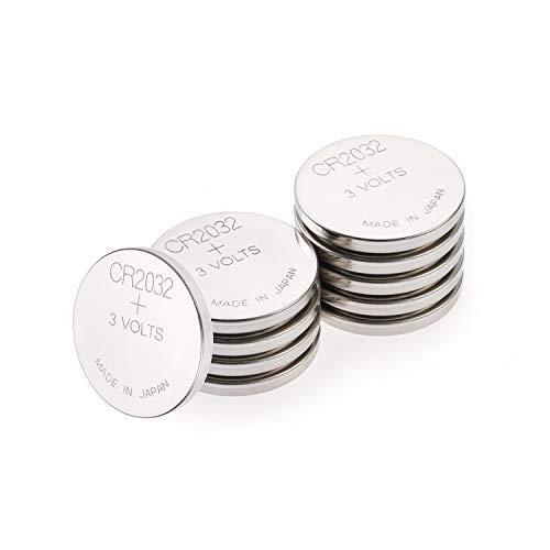 GP CR2032 Lithium Knopfzellen 3V, Knopfbatterien CR 2032 / DL2032, Spannung 3 Volt (10 Stück im 2x 5er Pack, Batterien einzeln entnehmbar) 2 Cr2032 Batterien