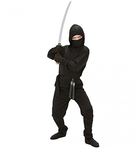 5-teiliges Ninja Kostüm für Jungen schwarz Kinder Samurai Kämpfer Teenager, - Teenager Kostüme Karneval