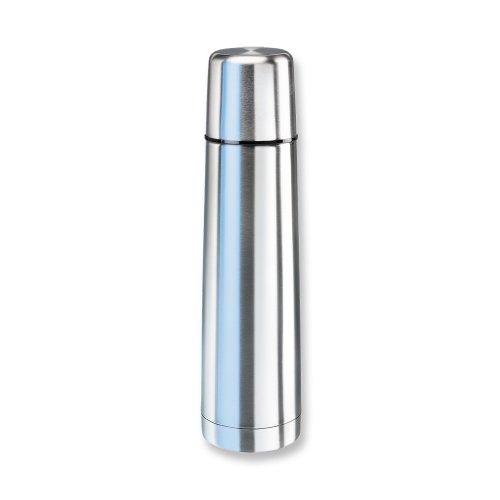 Isosteel 2063853 Bouteille Isotherme Colorline 0,4l noir/transparente INOX, Argent