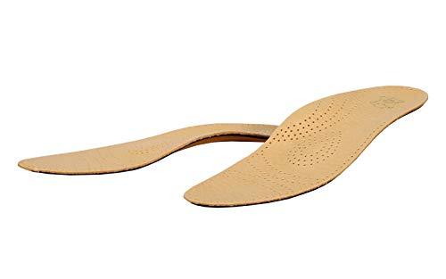 Schuheinlagen, Einlegesohlen Leder, Orthopädische Einlagen, Fußbett, Relax - No. 30102 - Einzelgroesse - 44