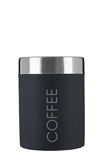 Premier Housewares Kaffeedose, Emaille, mit Gummidichtung, schwarz