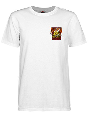 Dragon Gerippte T-shirt (Powell Peralta Cab Street Dragon T-Shirt XL weiß)
