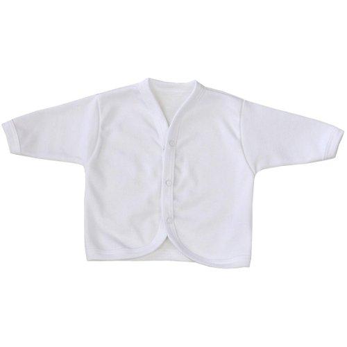 BabyPrem Babykleidung Frühchen - 6 Monate Strickjäckchen Pullover Baby WEIß 3-6