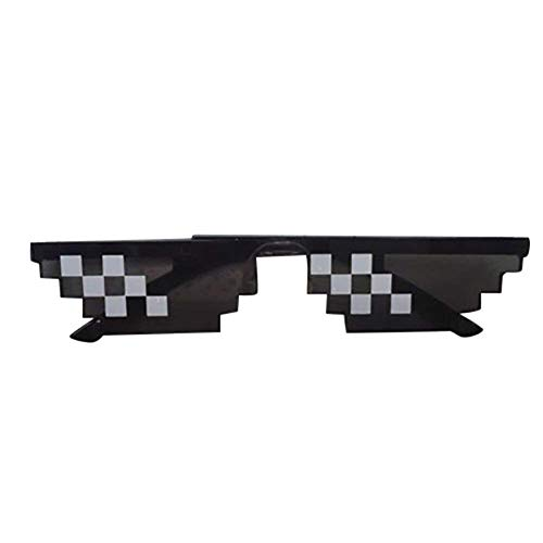 lustige Gläser 8 Bit Pixel Fake Mosaik lustige Gläser Anime Live Spoof Brille Party Supplies Hip-Hop Artefakt Party Requisiten ()