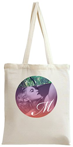 Legendary Singer Actress Circle Portrait Tote Bag Madonna Mdna Vinyl