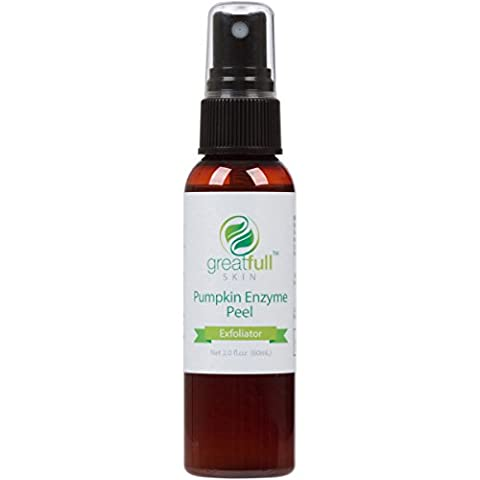 Pumpkin Enzyme Peel By GreatFull Skin - Best Way to Exfoliate and Rejuvenate Your Skin - No Harsh Acids or Chemicals - 60mL