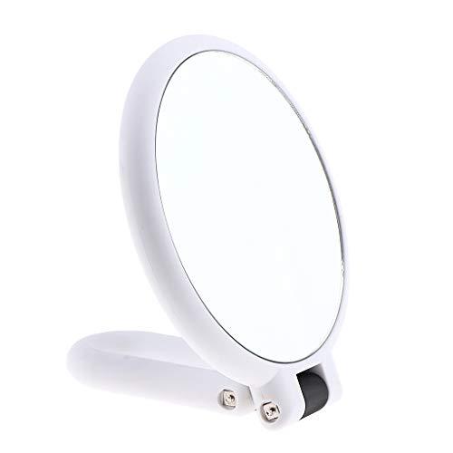Espejo de Maquillaje de Aumento de Alta Definición, Doble Cara Plegable para Afeitar y Cosmética...