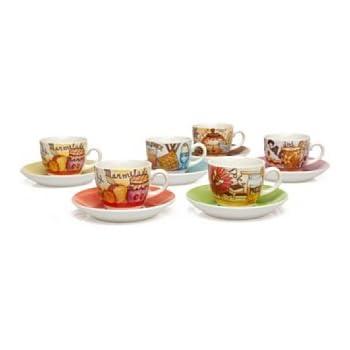 borella casalinghi daisy set caff con piatto ceramica