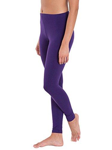 M.G.R Women\'s Cotton Lycra Churidar Leggings - Purple ( Free Size )