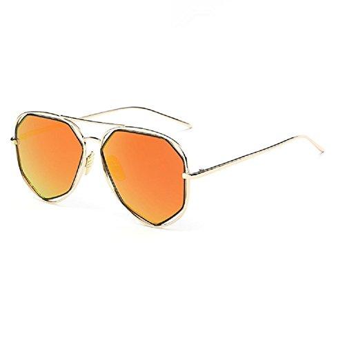 0-C Unisex polarizzati occhiali da sole in metallo 54mm arancione Gold frame, orange lens