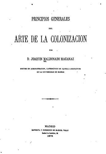 Principios Generales del Arte de la Colonizacion