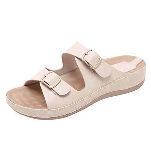 Mosstars Sandales Femme,Sandales d'Été Femmes à La Mode Chaussures Confortables Chaussures Plates Grande Taille