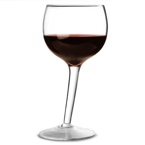 bar@drinkstuff Lot de 2 verre à vin 300 ml design penché