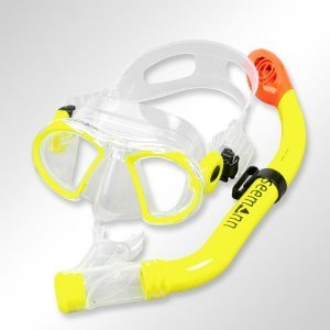 Subgear Maske Child neon -yellow mit Schnorchel