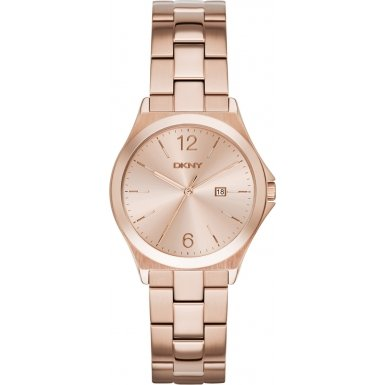 DKNY (DNKY5) Women's Quartz Watch with Rose Gold Dial Analogue Display and Rose Gold Stainless Steel Bracelet NY2367