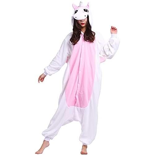 unicornios kawaii Pijama Unicornio, Onesie Modelo Animal Cosplay para Adulto entre 1,40 y 1,87 m Kugurumi Unisex