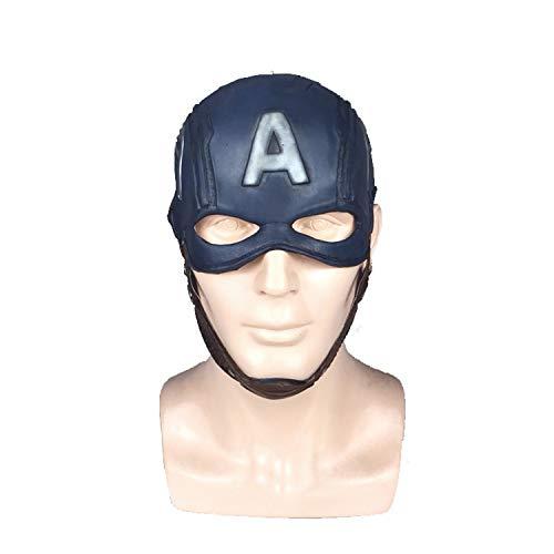 WYJSS Halloween Helm Maske Latex Maske Neuheit Film Show Maskerade Thema Party Cosplay Lustige Geschenke Dress Up Requisiten,Blue-OneSize (Dress Themen Up Lustige)
